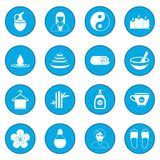Spa icon blue. Spa simple icon blue isolated vector illustration Stock Images