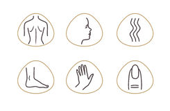 SPA icon. Spa Massage Therapy Skin Care Cosmetics Services Icons. Vector Illustration. beauty salon Royalty Free Stock Image