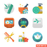 Spa icon set. Beauty and Spa Flat icons Royalty Free Stock Photography