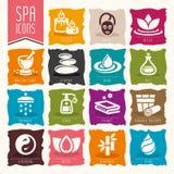 Spa icon set Royalty Free Stock Photo