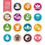 Spa icon set Stock Photography