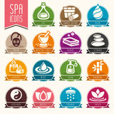Spa icon set. Quality set of icons that can be used on spa Royalty Free Stock Photography
