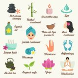 Spa icon. Set. Vector Illustration Royalty Free Stock Photo