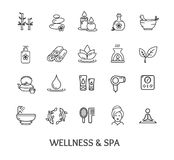 Spa Icon Set. Vector. Spa Icon Set  on White Background. Design Elements for Beauty Business and Website. Vector illustration Stock Photos