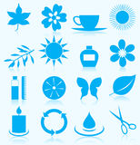 Spa icon5. Set of icons on a theme spa. A  illustration Stock Image