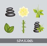 Spa icons Royalty Free Stock Image