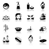 Spa icons black Stock Photos