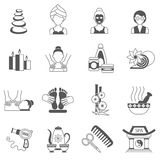 Spa Icons Black Set Royalty Free Stock Photography