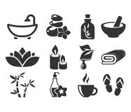Spa Icons. Royalty Free Stock Images