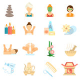 Spa Icons Flat Stock Photo