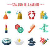 Spa icons flat style Stock Photography