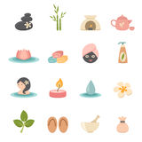 Spa icons Royalty Free Stock Photos