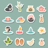 Spa icons. Illustration of spa icons set Stock Photography
