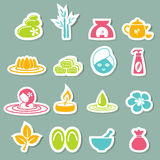 Spa icons. Illustration of spa icons set Royalty Free Stock Images