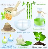 Spa Icons/ Objects Vector Set Stock Photo