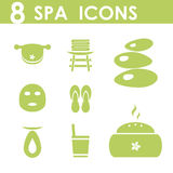 Spa icons set. Health lifestyle Royalty Free Stock Photos