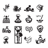 Spa icons set. Authors illustration in vector Stock Photos