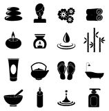 Spa icons set Royalty Free Stock Photo