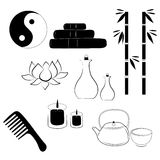 Spa icons set Stock Photography