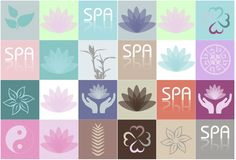 SPA icons set Royalty Free Stock Image