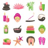 Spa Icons Set Royalty Free Stock Photos