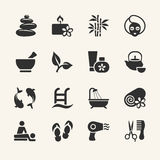 Spa icons set. Spa icons collection, stock vector royalty free illustration