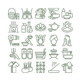Spa icons set. Spa and massage. Healthcare, beauty and therapy Royalty Free Stock Photo