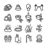 Spa icons set. Vector eps 10. Stock Photography