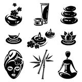 Spa icons set. Vector Stock Photos
