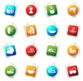 Spa icons set Stock Photography