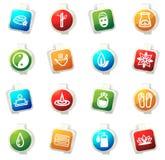 Spa icons set Royalty Free Stock Photo