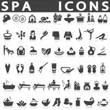 Spa icons. Set on a white background with a shadow Royalty Free Stock Image