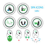 Spa icons set Royalty Free Stock Photography