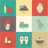 Spa icons Royalty Free Stock Photo