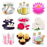 Spa icons vector set Stock Photo
