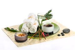 Spa with incense sticks Stock Photography