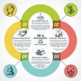 Spa Infographic Set Stock Photo