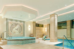 Spa inre i ett modernt hotell Royaltyfri Fotografi