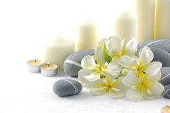Spa item. Orchid flower and spa item royalty free stock images