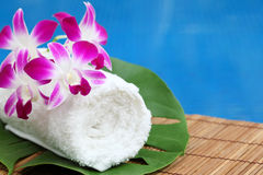 Spa item wirh orchid Royalty Free Stock Photo