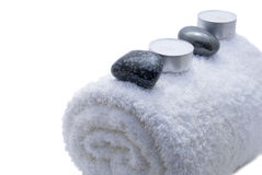 Spa items. Isoalted on white Stock Images