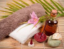 Spa items. Things for use in a spa Royalty Free Stock Image