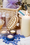 Spa items. A composition of spa items Stock Image
