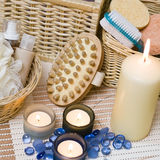 Spa items. A composition of spa items, square format photo Stock Photo