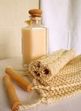SPA ITEMS. Skin and bodycare items royalty free stock photos