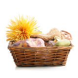 Spa items in a basket Stock Photography
