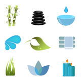 Spa items icon set Royalty Free Stock Photography