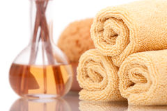 Spa Items On White Background Stock Photo