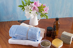 SPA items and orchid. Stock Photography