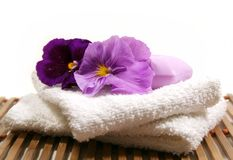 Spa Items Purple Royalty Free Stock Image